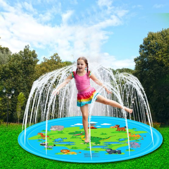67 inch Inflatable Outdoor Sprinkler Dinosaur Play Mat