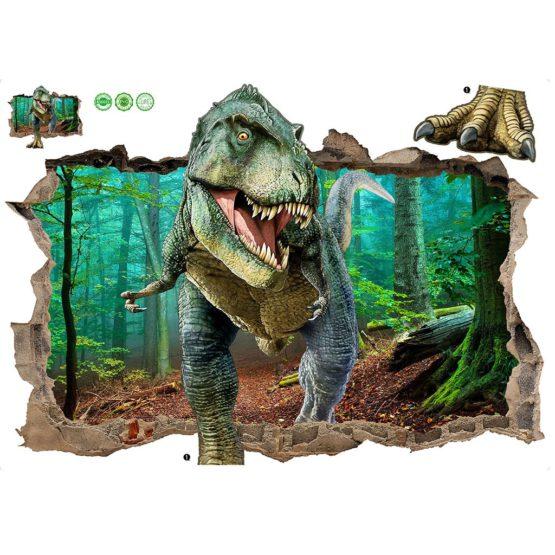 3D Jurassic Park World Dinosaur Wall Sticker Decal
