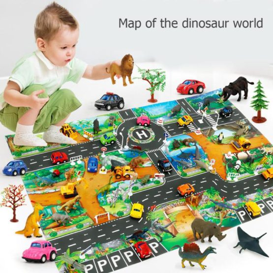 Dinosaur Road Play Mat
