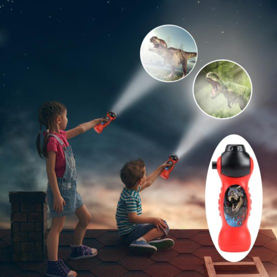 Dinosaur Projection LED Flashlight with 24 Patterns