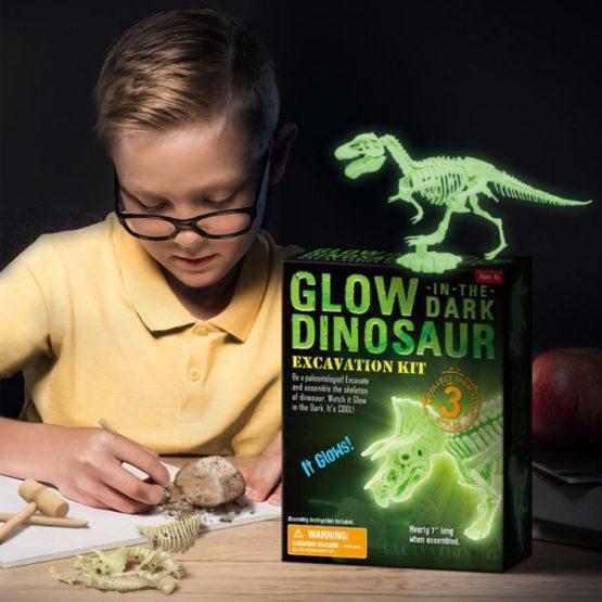 Glow Dinosaur Skeleton Dig Excavation Kit
